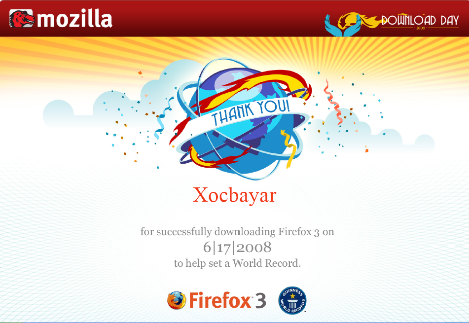 Firefox download day 2008